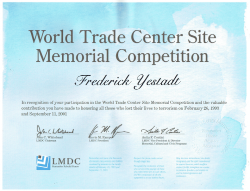 Rick Yestadt's Submission for the World Trade Center Site Memorial Competition