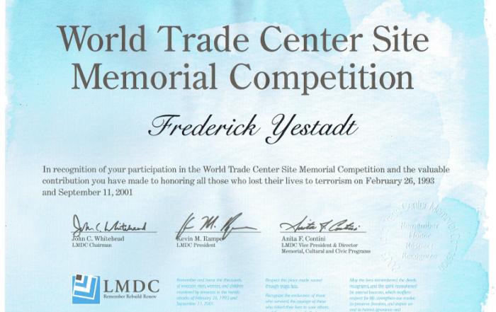 rotated world trade center site memorial